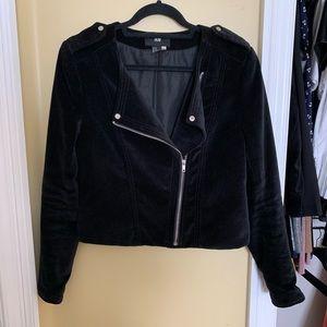 Black Velvet Moto Jacket